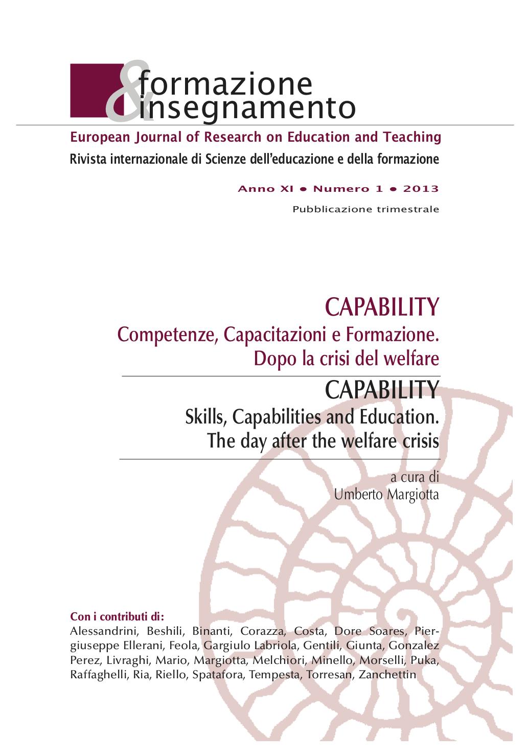 """Copertina di La certificazione delle competenze come """"libertà di agire"""""""