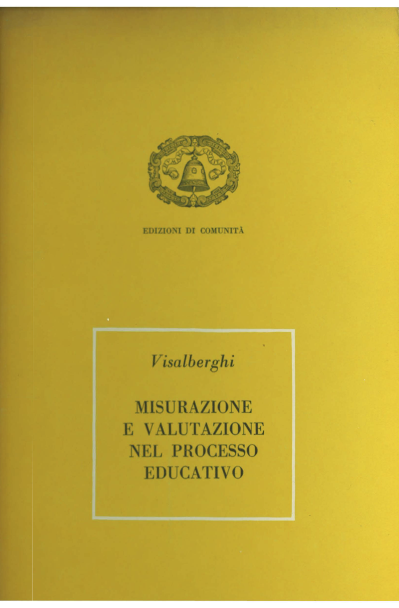 Copertina diMisurazione e valutazione nel processo educativo