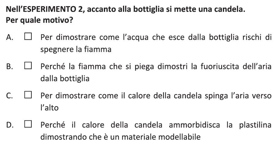 domanda del fascicolo di italiano